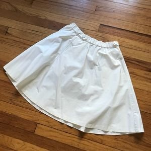 Zara white stiff spring/summer skirt